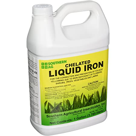 Southern Ag Chelated Liquid Iron, 128oz - 1 Gallon