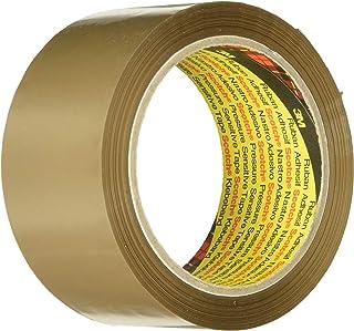Scotch Verpackungsklebeband – Geräuscharmes braunes Klebeband zum Verschließen von Verpackungskartons & mehr – 50 mm x 66 m – 6 Rollen