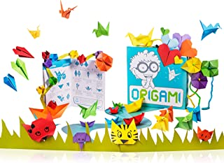 Open The Joy Origami Kit | 150 Sheets of Origami Paper & 32 Page Book for Beginners | Premium Multicolor Kids Origami Kit...