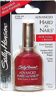 Sally Hansen (1) Bottle Advanced Hard As Nails with Nylon+Retinol Nail Polish Extra Strength Formula - Thunder #2764-44