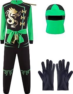 Katara Disfraz de Ninja Dragón para Niño Carnaval, Cosplay