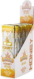 True Hemp - Organic Hemp Wraps - Non GMO - 2 Wraps Per Pack - 25 Pack Display Box (Honey)