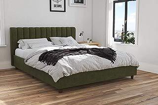 Novogratz 4193939N Brittany Upholstered Bed, Queen, Green