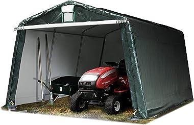 TOOLPORT 3,3 x 4,8 m Garage, abri de Stockage, PE env. 260 g/m², Tente Garage Vert foncé