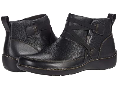 Clarks Cora Blossom (Black Leather) Women