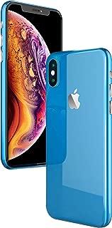 ColorSkin iPhone Xs Skin, iPhone X Skin,Vinyl Sticker Full Body Protective iPhone Xs/X Skin Wrap Film Decal - High Gloss Blue (iPhoneXs)