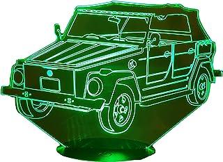 VW 181, Lampada illusione 3D con LED - 7 colori.