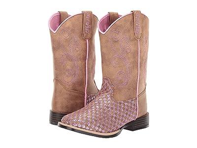 M&F Western Kids Kennedy (Toddler/Little Kid) (Brown/Pink) Cowboy Boots