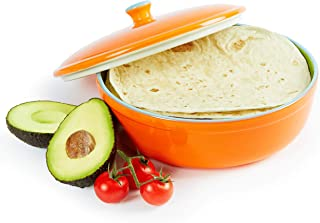 ceramic pancake warmer and serving dish
