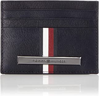 Tommy Hilfiger Corp Plaque Stripe Cjm Card Holder