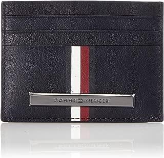 TOMMY HILFIGER Men's Corporation Stripe Card Holder, Blue