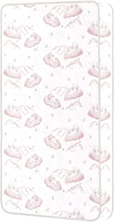 Dream on Me Sweet Dreams 88 Coil Spring Crib and Toddler Bed Mattress, Pink, 6