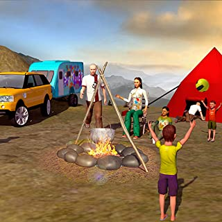 Summer Camper Van Driving Truck Simulator 2018: Happy Virtual Family Games Free for Kids