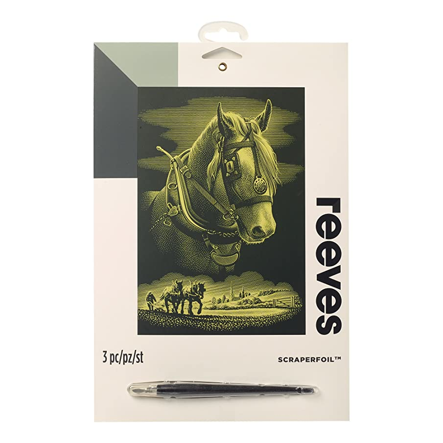 Winsor & Newton Reeves Scraperfoil, Horse, Gold, Gold, Gold