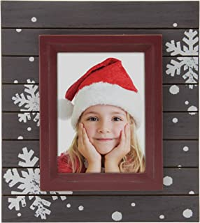 Fine Photo Gifts Winter Snowflake Wood Picture Frame