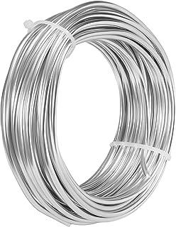 BELLE VOUS Fil Aluminium pour Bijoux (10 m) - Rouleaux de Fil Aluminium 3mm Flexible - pour Sculptures Faites Maison, Mode...