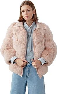 Miguel Marinero Chaqueta de Mujer de Pelo en Color Rosa