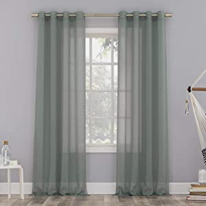 No. 918 Erica Crushed Voile Sheer Grommet Curtain Panel, 51