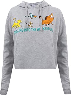 Disney Strolling Into Cropped Hood Sweatshirt à Capuche Femme
