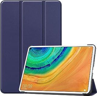 NUPO HUAWEI MatePad Pro 10.8 ケース 超軽量 極薄 高級PU レザー 開閉式三つ折 スタンド スマートケース スタンド 機能 スマートカバー HUAWEI MatePad Pro 10.8 対応(ブルー)