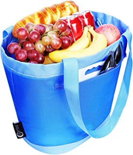 PORTAL Insulated Cooler Tote Bag Outdoor Picnic Lunch Freezable Bag for Camping Beach Travel