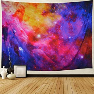 Lahasbja Galaxy Tapestry Space Tapestry Starry Sky Wall Tapestry Cosmic Stars Tapestry Wall Hanging for Bedroom W59 × H51 Inch