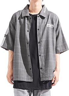 バレッタ 半袖 バックプリント コーチジャケット ストレッチ ビッグ ワイド メンズ