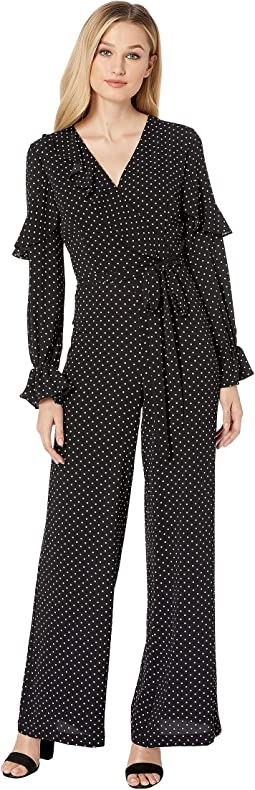 Polka Dot Ruffled Jumpsuit