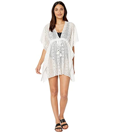 BECCA by Rebecca Virtue Poetic Sheer Lace Tunic Cover-Up (White) Women