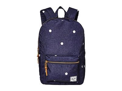 Herschel Supply Co. Settlement Medium (Polka Dot Crosshatch Peacoat) Backpack Bags