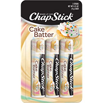 ChapStick Cake Batter Flavor, Flavored Lip Balm Set, Limited Edition, Pack of 3 Lip Balm Tubes, 0.15 Ounce Each