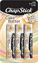 Chapstick Classic (3 Count) Cake Batter Flavor Skin Protectant Flavored Lip Balm Tube, Limited Edition, 3 Count (Pack of 1)
