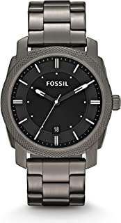 Fossil Men's 42mm Machine Smoke IP Stainless Steel Dress Watch