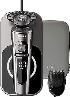 Philips 飞利浦 sp9860/16 电动湿两用剃须刀 9000 系列 优质带nano-tech 精密刀片,胡须定型,qi-充电垫,无线充电