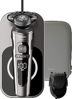 Philips 飞利浦 SP9860/16 干湿两用电动剃须刀 9000系列 Prestige 纳米科技精准刀片、修剪器、无线充电的Qi充电座