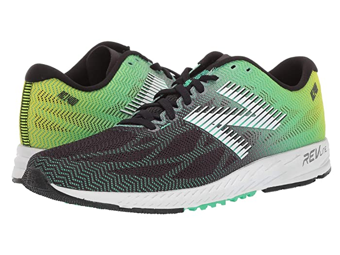 New Balance  1400v6 (Black/Neon Emerald) Mens Running Shoes