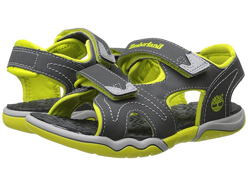 Timberland Kids Adventure Seeker 2 Strap Sandal (Little Kid) (Dark Grey/Green) Kids Shoes
