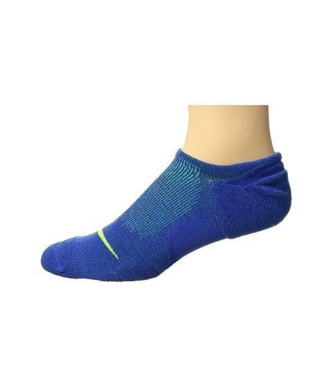 Elite Cushioned Running No Show Socks, Game Royal/Photo Blue/Volt