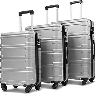 Merax 3 Pcs Luggage Set with TSA Lock, Lightweight Expandable Luggage Spinner Suitcase Set