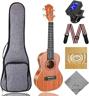 Concert Ukulele Ranch 23 inch Professional Wooden ukelele Instrument Kit With Free Online 12 Lessons Small Hawaiian Guitar...