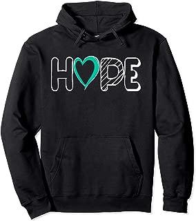 Hope Sexual Assault Awareness Shirt Teal Ribbon Hoodie