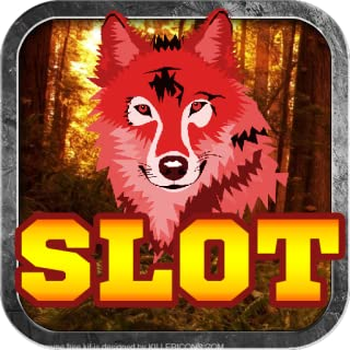Red Wolf in the Wild Lunar Moon Vegas Casino Free Poker Slot Machine Game