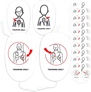 CPR Assistant 10 Adult + 10 Infant/Child Combo Set Universal AED Training Pads for AED Trainers, CPR Training Supplies, Replacement Smart Pads for CPR Manikins and AED Trainer