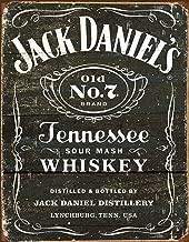 Desperate Enterprises Jack Daniel's Tennessee Whiskey - Weathered Logo Tin Sign, 12.5