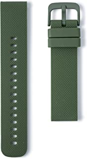 Wristology Quick Release Easy Change Replacement Soft Silicone Rubber Watch Band Strap for Men Women - Choose Color and Wi...