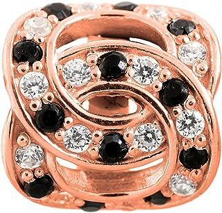 Doble Love de oro rosa y cristales para pulsera 2675 Endless de Jennifer López Collection