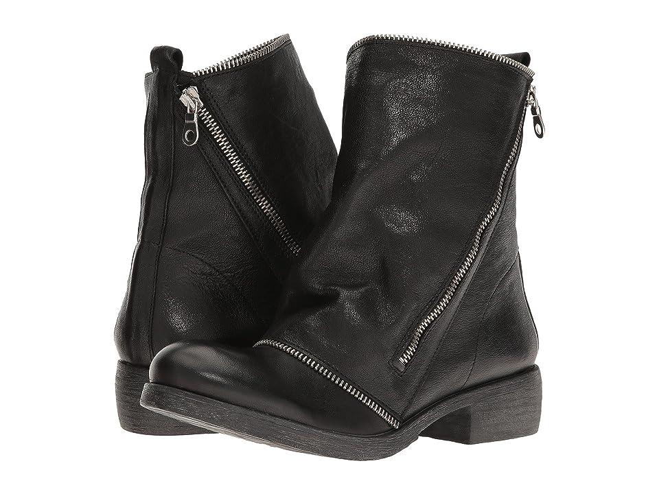 Massimo Matteo Low Boot with Zipper (Black) Women
