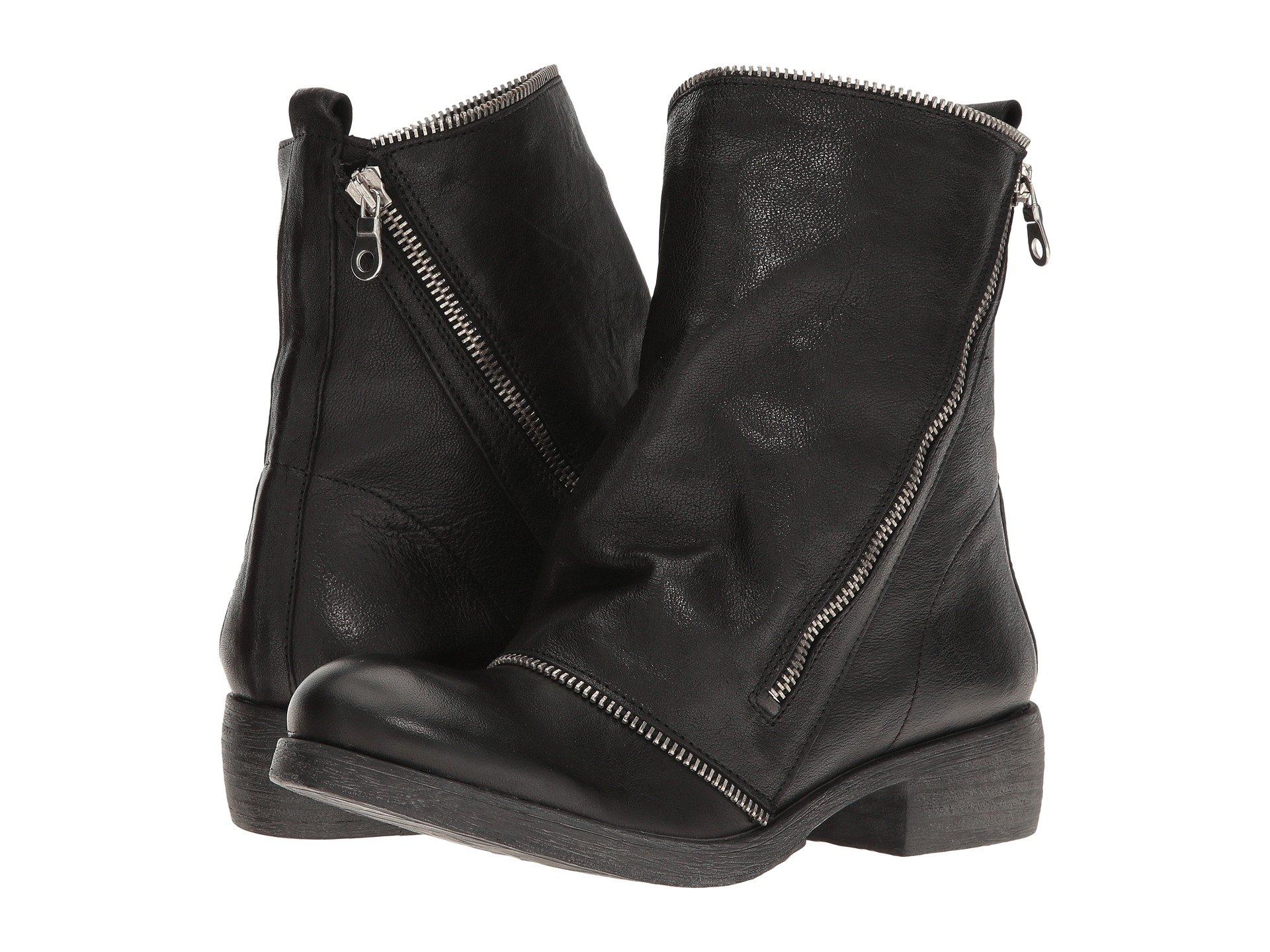 MASSIMO MATTEO Low Boot With Zipper, Black