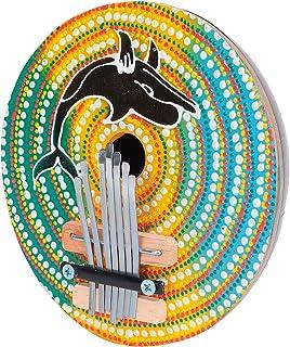 Regulowane fortepian na kciuk, mini kalimba łatwe do przenoszenia kokos muszla 7 kluczy kalimba wykwintne wykonanie dla ro...