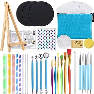54PCS Mandala Dotting Tools Painting Kit, Dotting Tools for Painting Mandalas, Paint Stencils Tool Set Art Craft Supplies ...